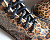 Vintage Doc Martens Leopard Print Leather 8 by BlackmailCouture