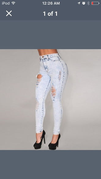 jeans acid washed skinny jeans light colored jeans ripped jeans