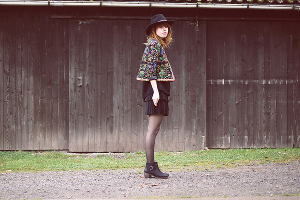 jacket romwe retro floral