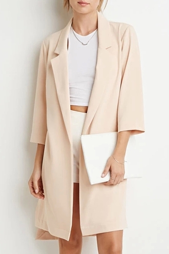coat office outfits creme beige office wear formal long coat autumn/winter lookbook fall outfits classy zaful lapel trench coat nude top clothes outerwear outfit fashion streetstyle high low longline coat