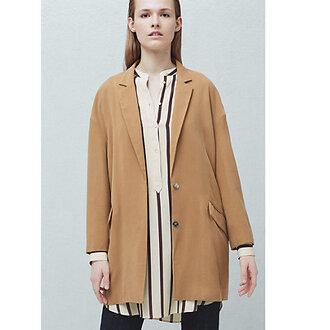 jacket blazer suit jacket mango clothes beige