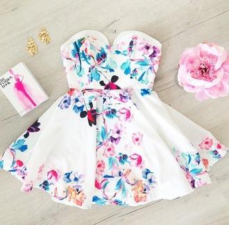 dress fleurie bustier dress