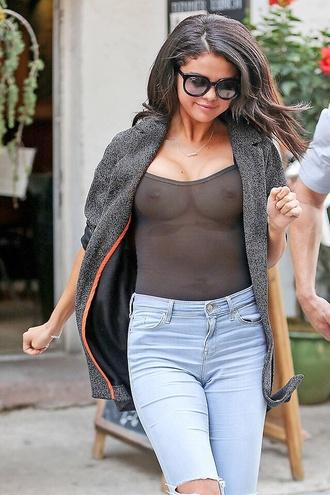 cardigan jacket grey orange jeans sunglasses fake photoshopped