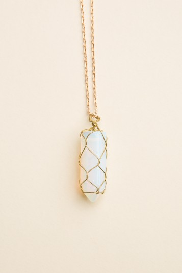 f3b40183 Brandy ♥ Melville | Opal Stone Necklace - Necklaces - Jewelry - Accessories