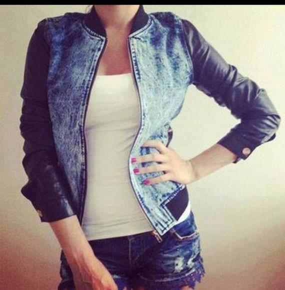 jacket denim jacket jeans leather jacket blue dress black streetwear style fashion giacca sweater t-shirt