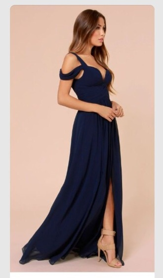 dress navy dress prom dress prom gown long dress shoes