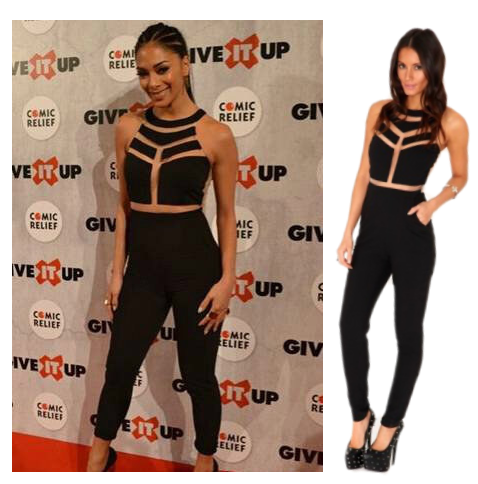 38ebdc4e8cca Black Mesh Panel Milenka Missguided Inspired Jumpsuit Lilly Ghalichi ...