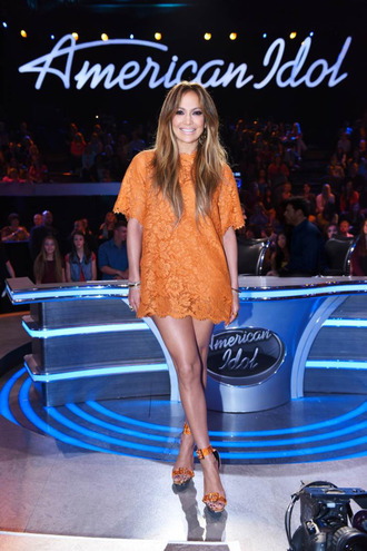 dress lace dress lace orange dress orange jennifer lopez sandals short dress shoes