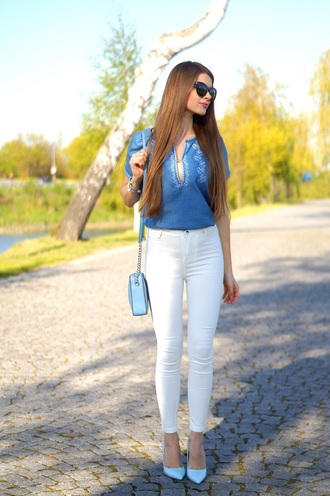 only my fashion style blogger bag jewels blouse shoes