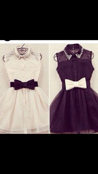 dress cardigan pearl rhinestone peter pan collar lovley little black dress bows aztec sweater black and white black white dress