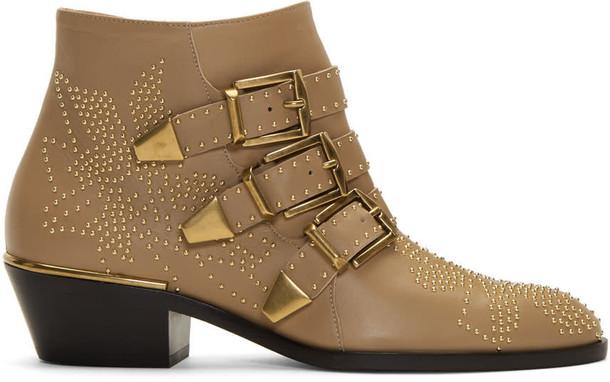 Chloe susanna boots beige shoes