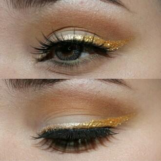 make-up glitter eyeliner eye party make up