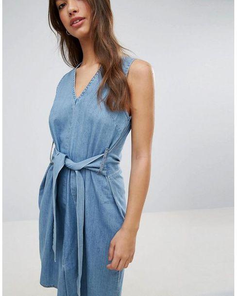 dress cheap monday jean dress denim dress summer summer dress v neck blue dress casual back to school school outfit fall outfits fall dress