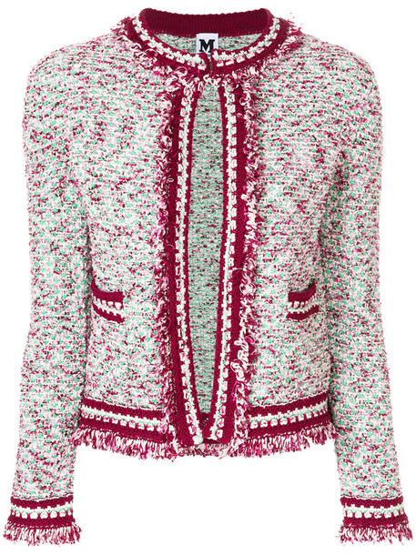 M Missoni jacket women cotton wool purple pink