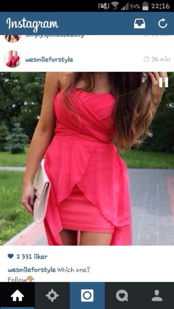 pink dress coral dress