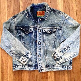 jacket denim jacket calvin klein grunge vintage