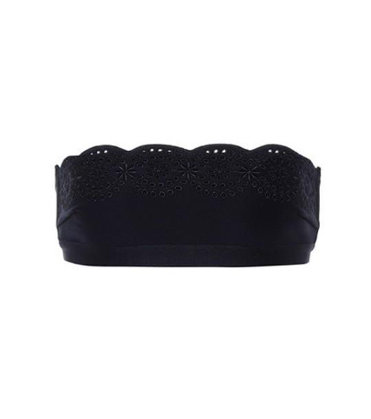 Stella McCartney bikini bikini top scalloped black swimwear