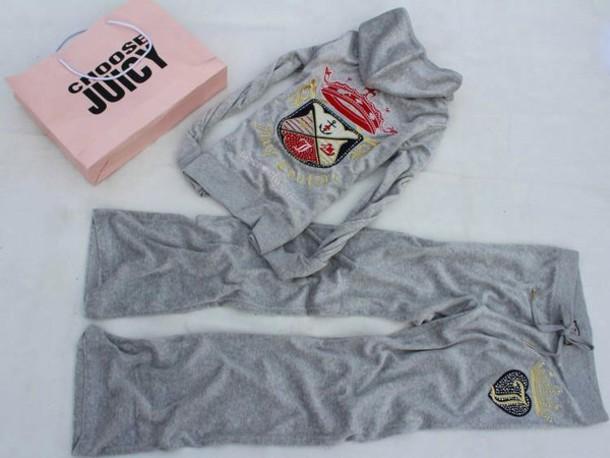jumpsuit juicy couture grey sweatpants grey sweater hoodie