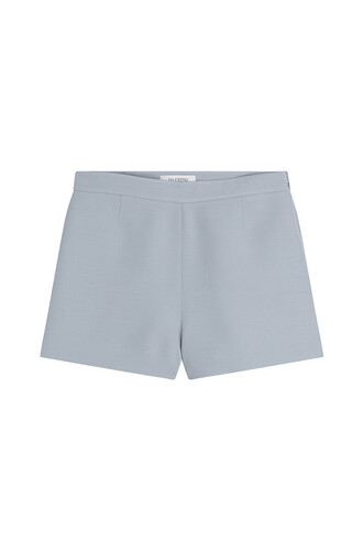 shorts silk wool blue