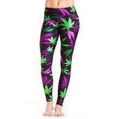pants,weed print leggings,weed leaf leggings,pot leaf leggings,miss mary jane co.,marijuana,weed,printed leggings,pot leaf,weed socks,tree,leaves,smoke