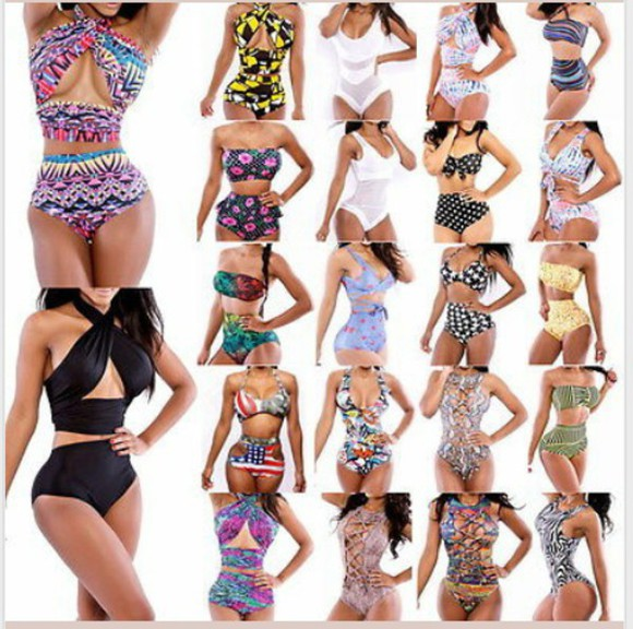 bandeau swimwear high waisted bikini bikini print nice colorful aztec bandage bikini bodycon swimsuit black swimsuit bodycon dress bikini bottoms bikini top bathing suit with print cutout monokini one piece swimsuit cutout bikini bandage high waisted lovely leaf print