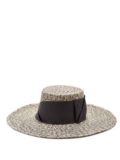 bow,embellished,hat,straw hat,black