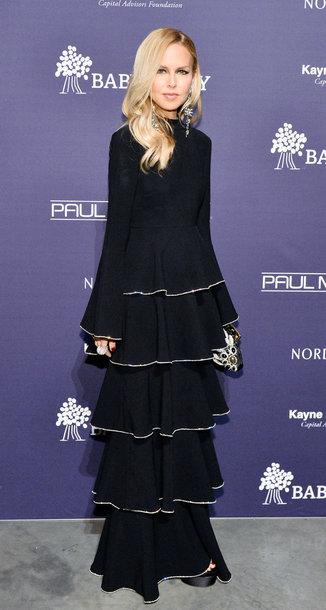 dress maxi dress black dress rachel zoe long sleeve dress ruffle ruffle dress