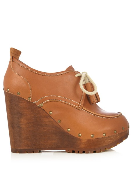 See by Chloe shoes lace leather brown