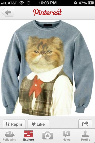 cats jacket sweatshirt