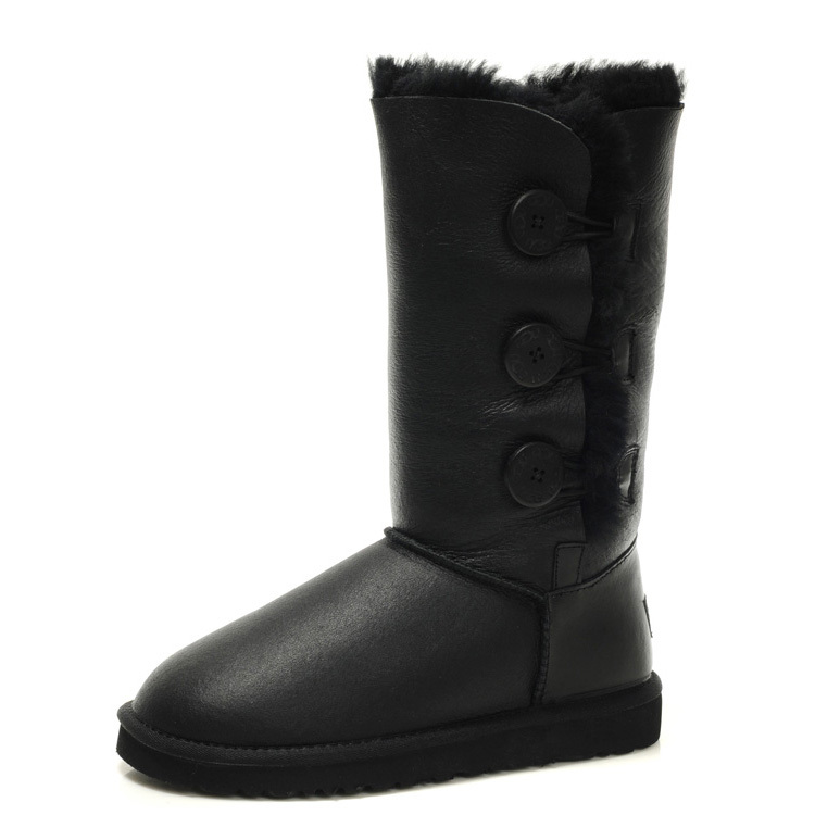 Official Ugg Bailey Bow Boots Womens Black - €99.78