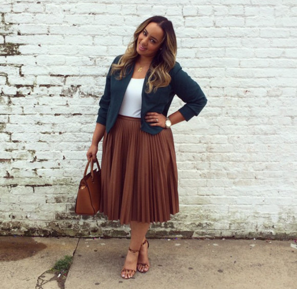 bag jewels brown skirt jacket