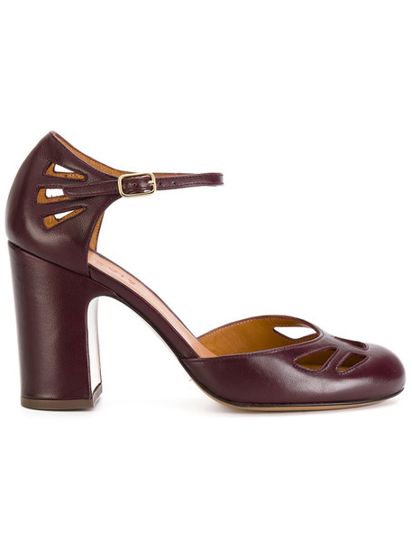 Chie Mihara women pumps leather purple pink shoes
