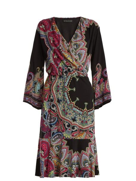 ETRO dress print paisley black