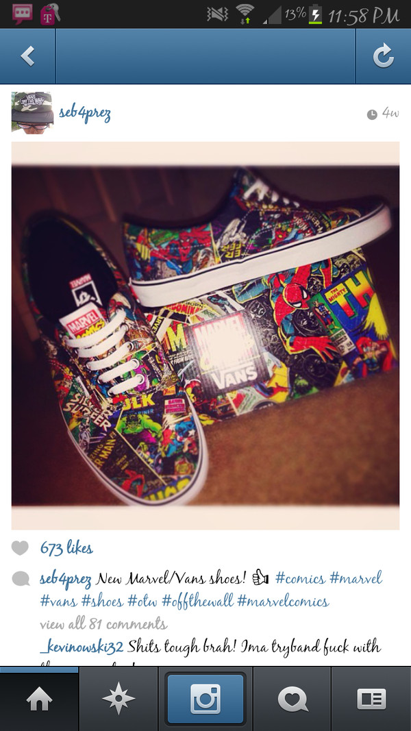 9ffe62a8a5d3 New Men s Vans Era Avengers Shoes Marvel Skate Iron Man Thor Spider ...