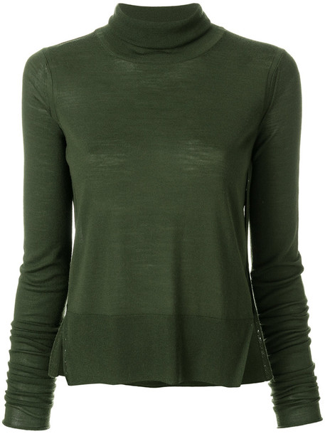 Forte Forte jumper turtleneck women wool green sweater