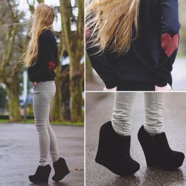 66e3635c3ac shoes black shoes black high heels platform shoes shoes black wedges heels  wedge booties black suede