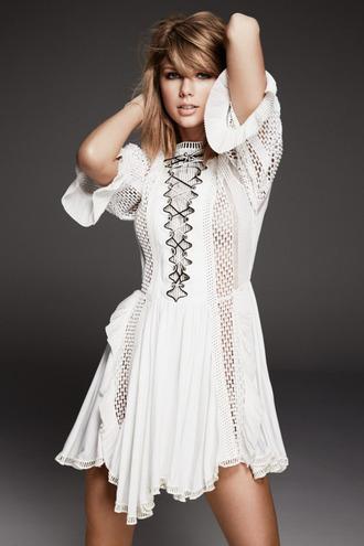 dress white white dress taylor swift editorial louis vuitton