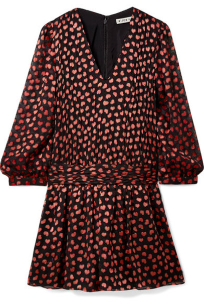 alice + olivia dress mini dress mini chiffon red