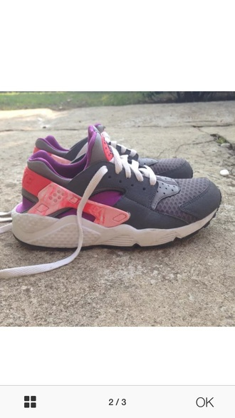 shoes grey pink purple