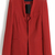 Red Long Sleeve Shoulder Pads Pockets Blazers - Sheinside.com
