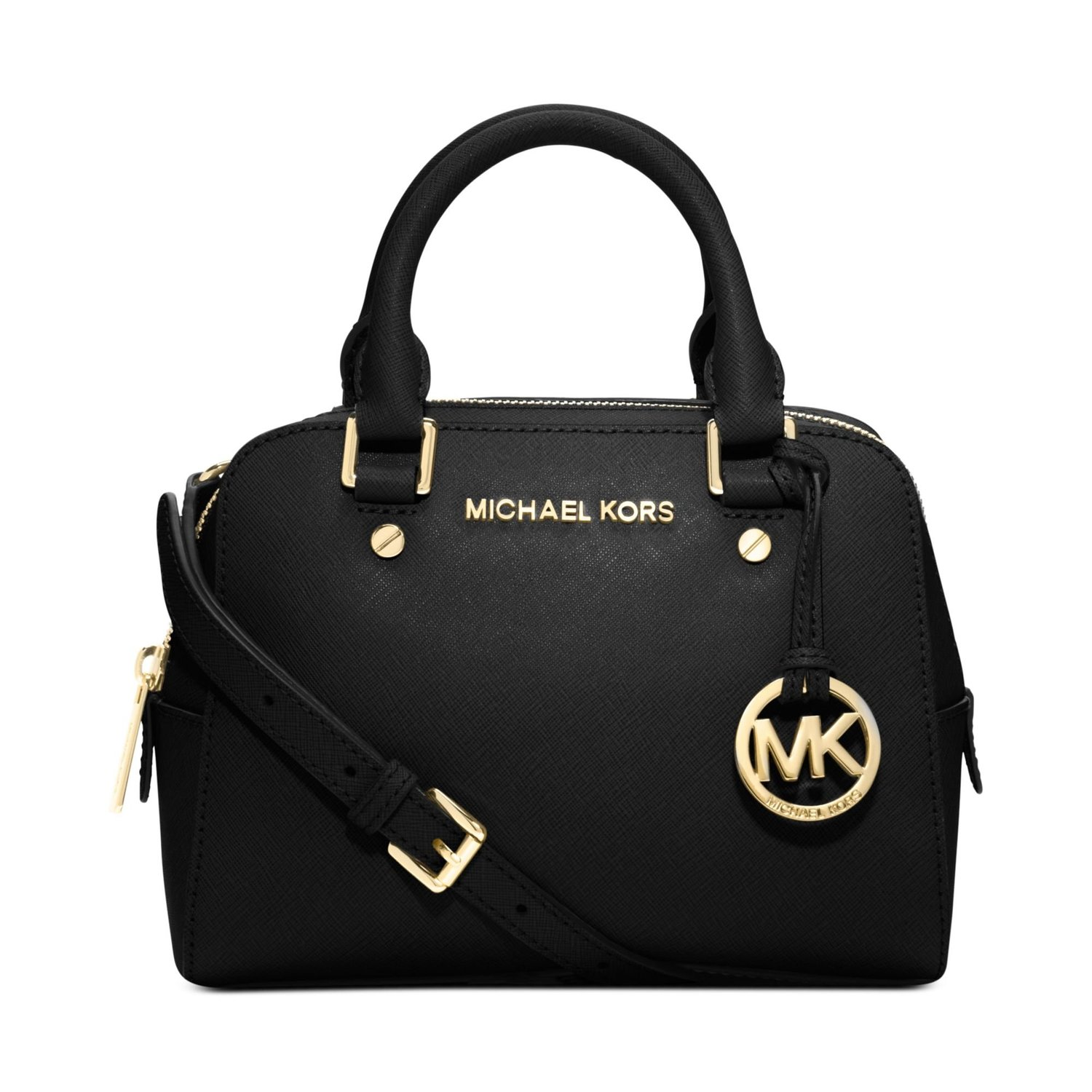 Michael Kors Jet Set Small Travel Satchel (BLACK): Handbags: Amazon.com