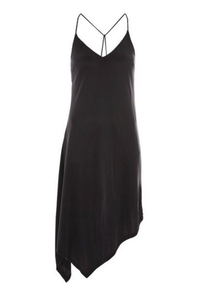 Topshop dress slip dress black