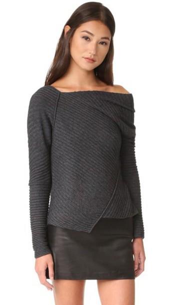 Free People Love And Harmony Sweater - Dark Grey