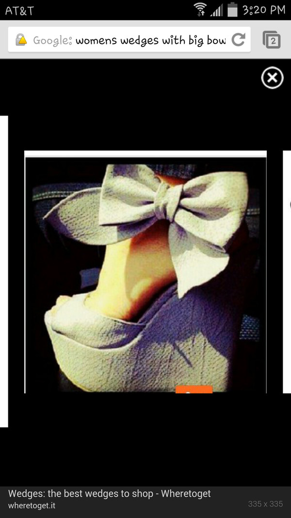 shoes wedges bow grey women's shoes