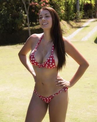swimwear sexy polka dots bikini red