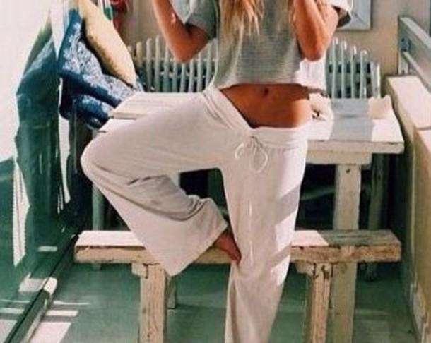 pants white sweater cozy summer girl outfit clothes girly soft grunge