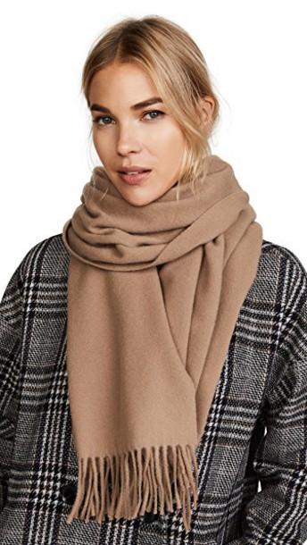 Acne Studios scarf brown camel