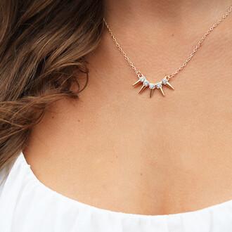 sparkle spike necklace jewels