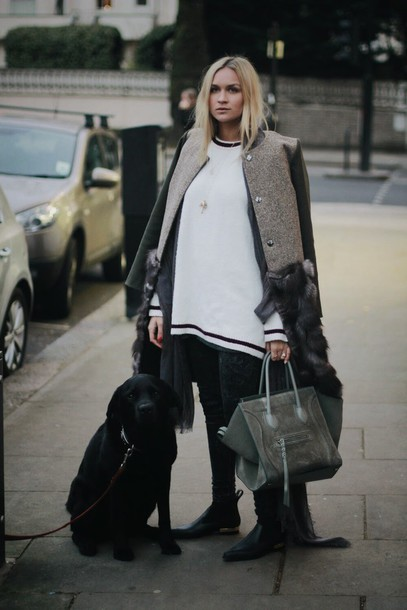 Coat: en vogue coop, blogger, celine, celine bag, oversized ...