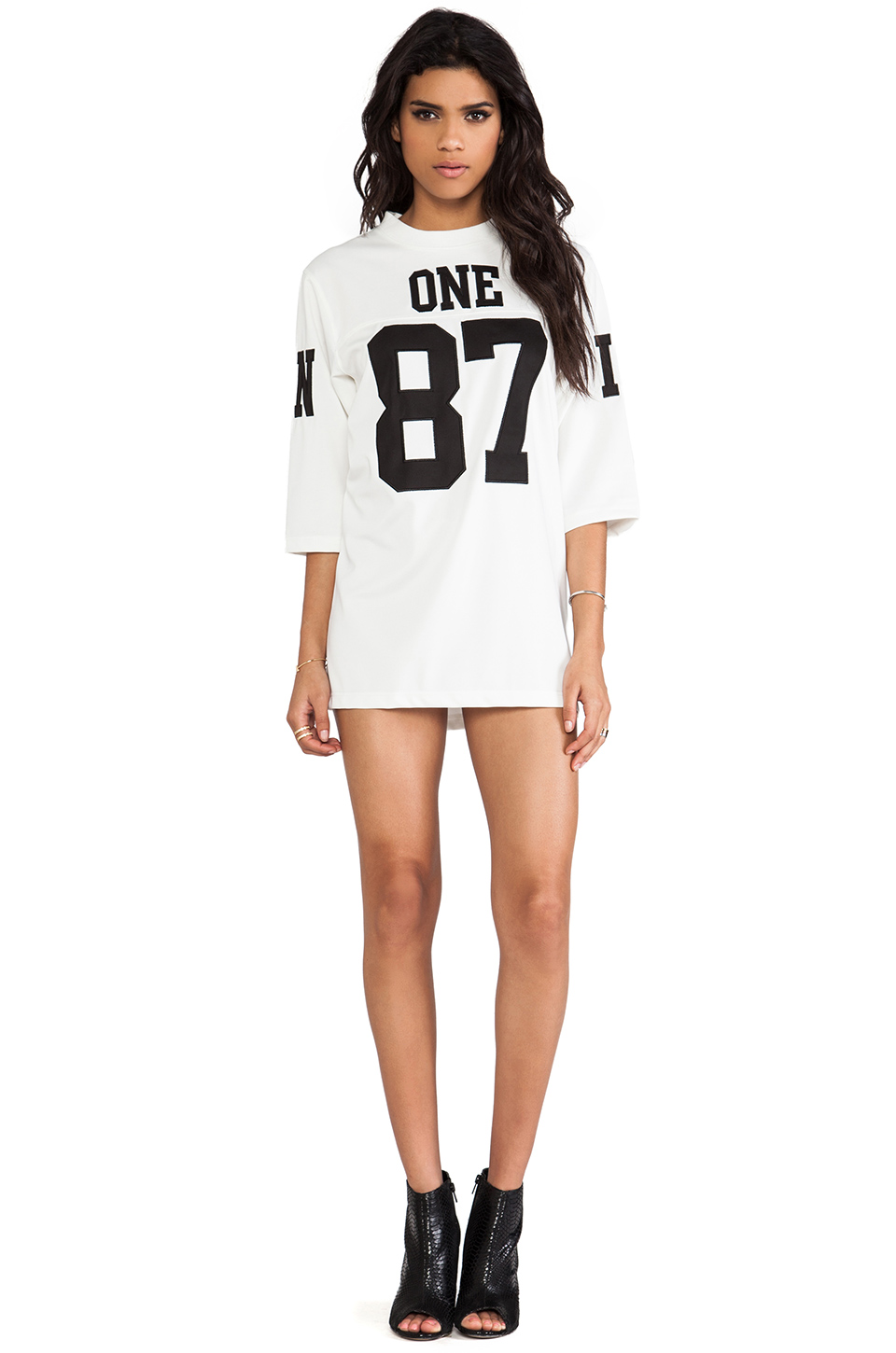 Unif 187 jersey dress in white